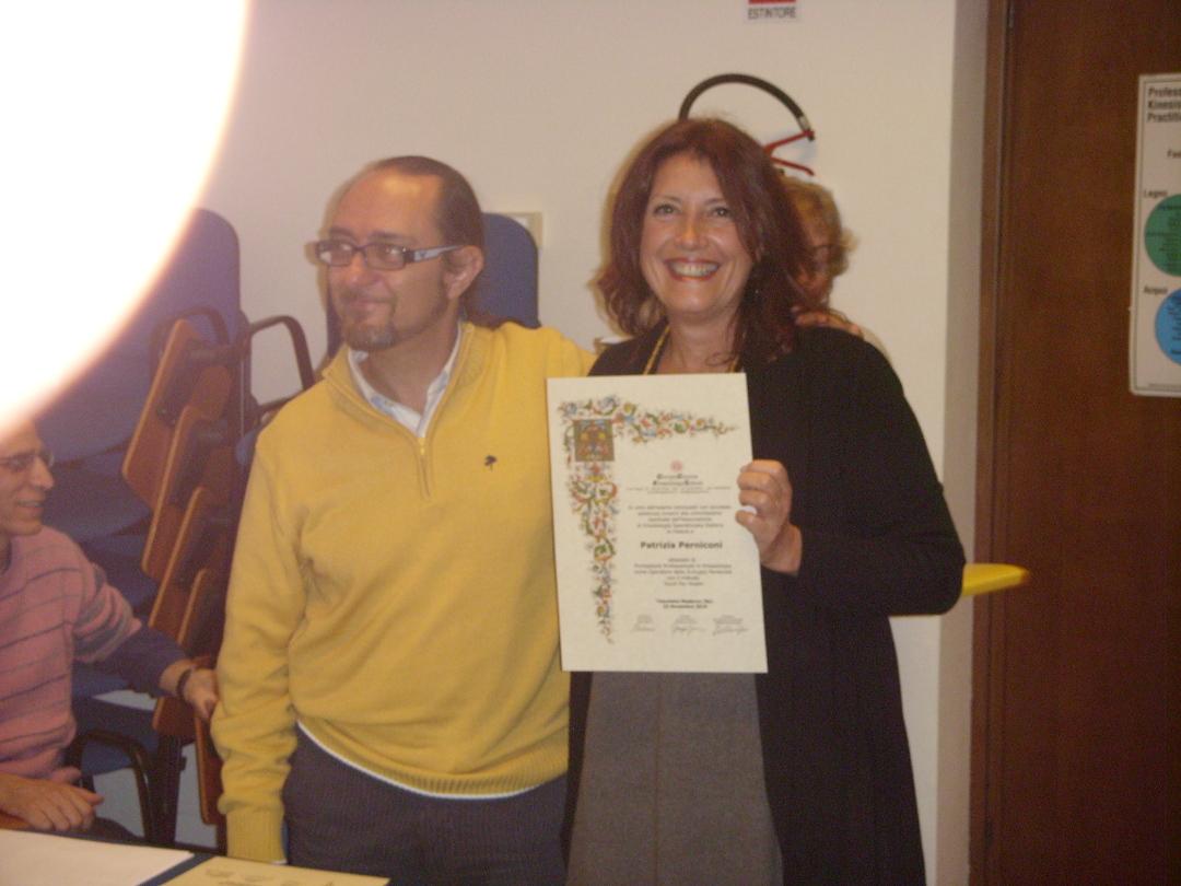 2009 - La consegna del diploma (con Giorgio Giovine)