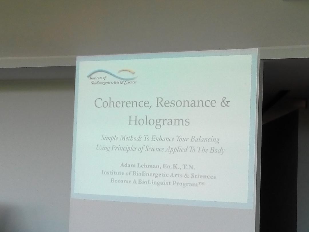 2017 - Corso Coherence, Resonance & Holograms